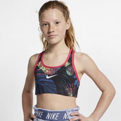 Nike Classic Big Kids' (Girls') Reversible Printed Floral Sports Bra