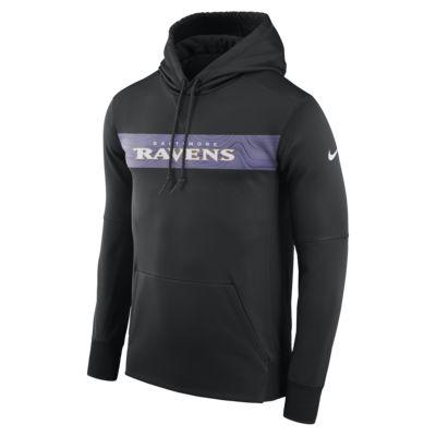 Nike Dri-FIT Therma (NFL Ravens) hettegenser til herre