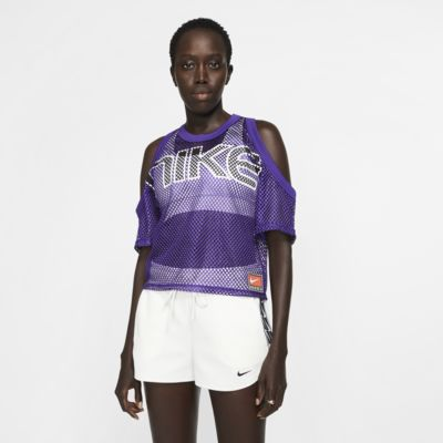 Damska koszulka z siateczki NikeLab Collection