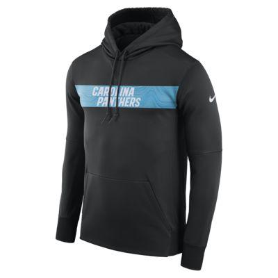 Felpa pullover con cappuccio Nike Dri-FIT Therma (NFL Panthers) - Uomo