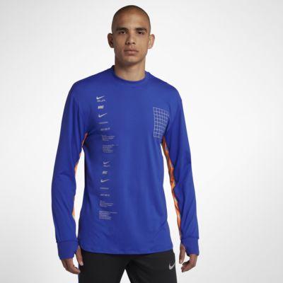 Langærmet Nike Dri-FIT-løbeoverdel til mænd