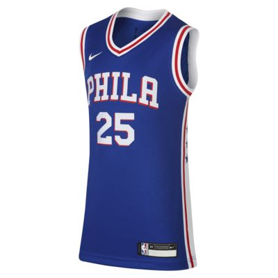 费城 76 人队 Icon Edition Swingman Jersey Nike NBA Jersey大童(男孩)球衣