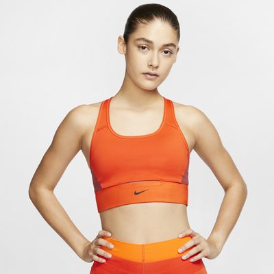 Nike Swoosh közepes tartást adó női zsebes sportmelltartó