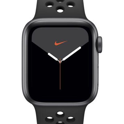 Apple Watch Nike Series 5 (GPS) mit Nike Sportarmband 40-mm-Aluminiumgehäuse in Space Gray