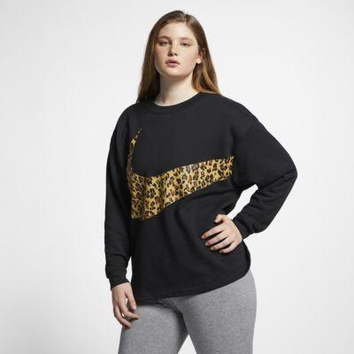 Dámská mikina Nike Sportswear se zvířecím potiskem a kulatým výstřihem (větší velikost)