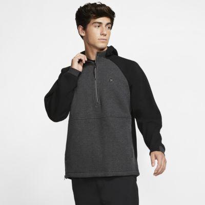 Hurley Therma Endure Elite-fleecehættetrøje med kvart lynlås til mænd