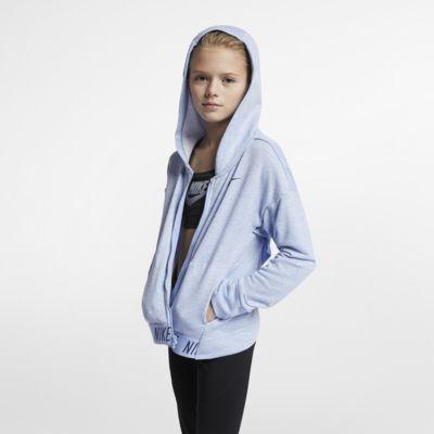 Träningshuvtröja Nike med dragkedja för tjejer