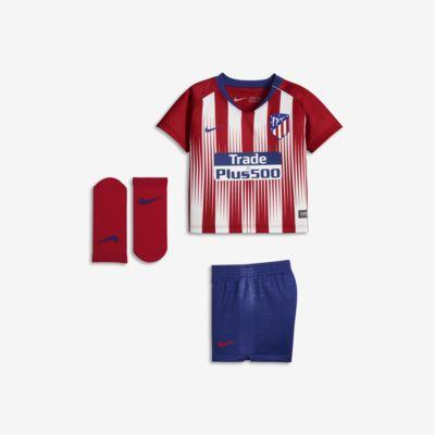 2018/19 Atletico de Madrid Stadium Home fotballdraktsett for sped-/småbarn