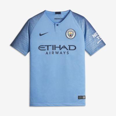 2018/19 Manchester City FC Stadium Home Older Kids' Football Shirt