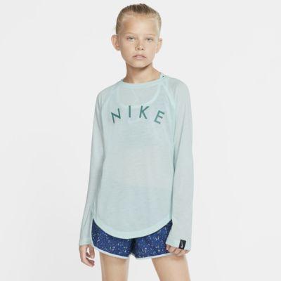 Nike Dri-FIT Trophy Big Kids' (Girls') Long-Sleeve Training Top