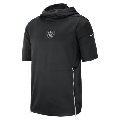 Nike Dri-FIT Therma (NFL Raiders) Men's Hooded Short-Sleeve Top