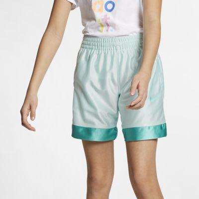 กางเกงบาสเก็ตบอลขาสั้นเด็กโต Nike (หญิง)