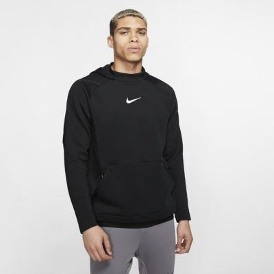 Nike Pro férfi kapucnis, belebújós polárpulóver