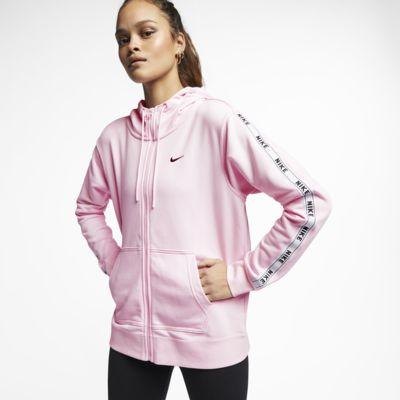 Dámská mikina Nike Sportswear s kapucí, dlouhým zipem a logem