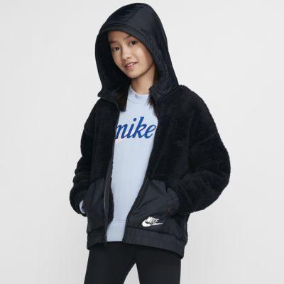 Bunda Nike Sportswear s imitací beránka pro větší děti (dívky)