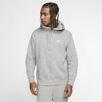 Pánská flísová mikina Nike Sportswear Club s kapucí a dlouhým zipem