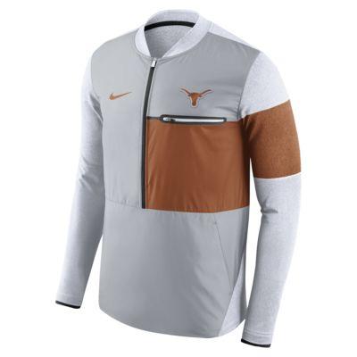 nike college shield hybrid texas men 39 s half zip jacket. Black Bedroom Furniture Sets. Home Design Ideas