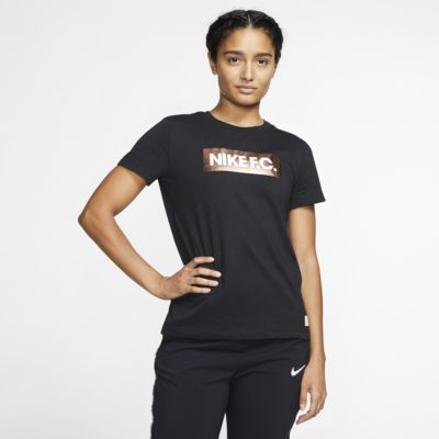 T-shirt de futebol Nike F.C. para mulher