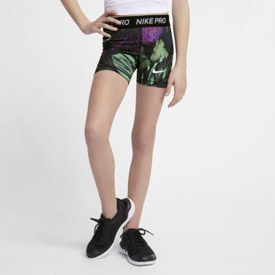 Nike Pro Big Kids' (Girls') Printed Floral Boyshorts