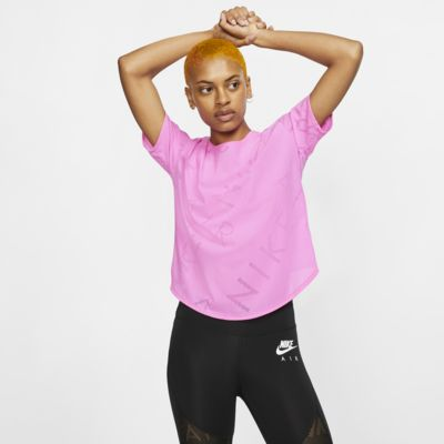 Top da running a manica corta Nike Air - Donna