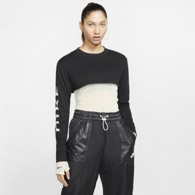 Långärmad kort tröja Nike Sportswear för kvinnor