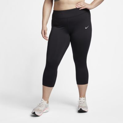 Nike Power Women's Mid-Rise Running Crops (Plus Size)