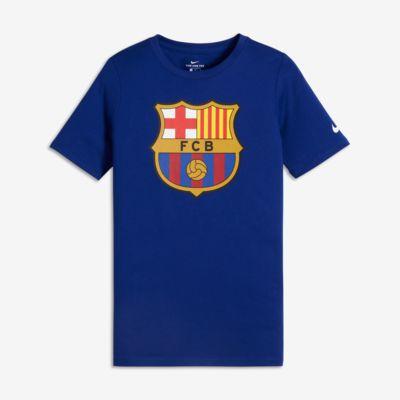 FC Barcelona Crest Older Kids' (Boys') T-Shirt