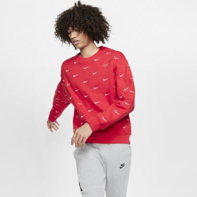 Nike Men's Swoosh Printed Crew