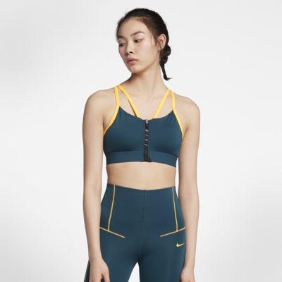 สปอร์ตบราผู้หญิงมีซิปซัพพอร์ตระดับต่ำ Nike Indy