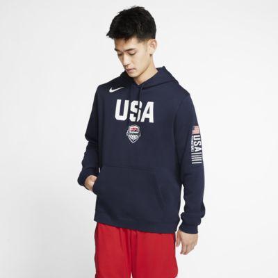 เสื้อบาสเก็ตบอลผู้ชายแบบสวม USA Nike Club Fleece