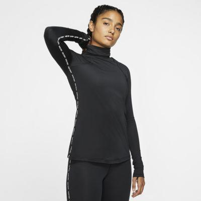 Prenda para la parte superior metalizada de manga larga para mujer Nike Pro Warm
