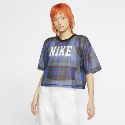 เสื้อตาข่ายแขนสั้นผู้หญิง Nike Sportswear NSW