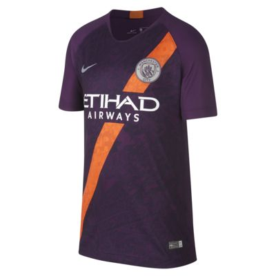 2018/19 Manchester City FC Stadium Third Older Kids' Football Shirt