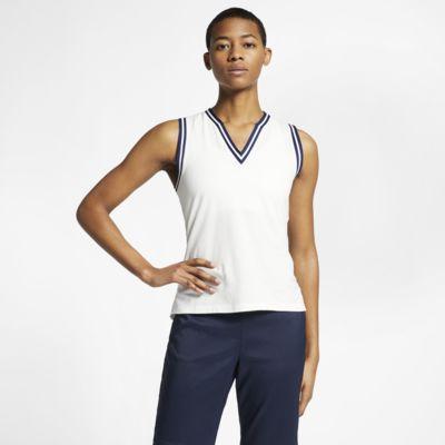 Женская рубашка-поло без рукавов для гольфа Nike Dri-FIT