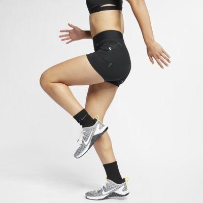 Damskie spodenki z metalicznym połyskiem 13 cm Nike Pro