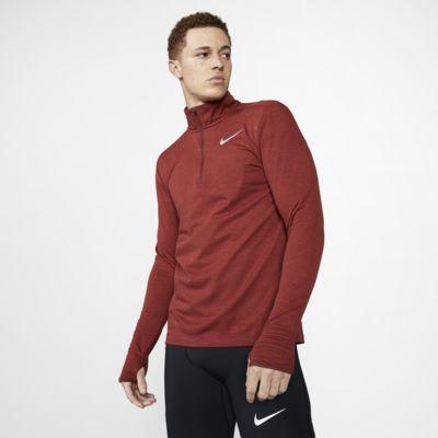 Nike Therma Sphere løpeoverdel med glidelås i halsen til herre