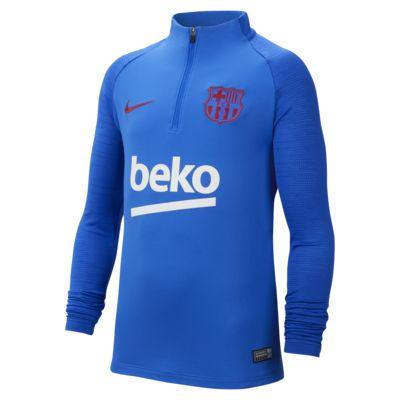 Футболка для футбольного тренинга для школьников Nike Dri-FIT FC Barcelona Strike