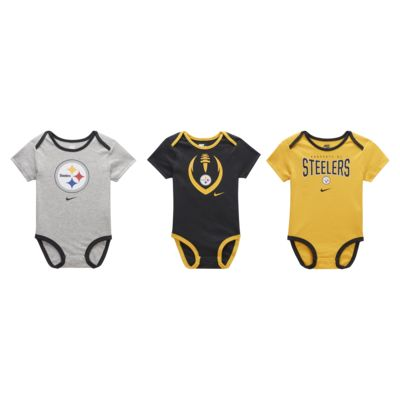 Nike (NFL Steelers) Baby Bodysuit (3-Pack)