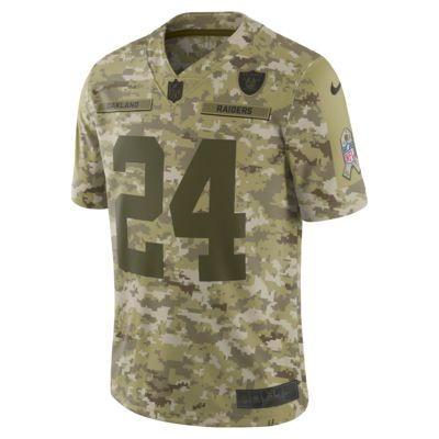 NFL Oakland Raiders Salute to Service (Marshawn Lynch) Big Kids' Football Jersey