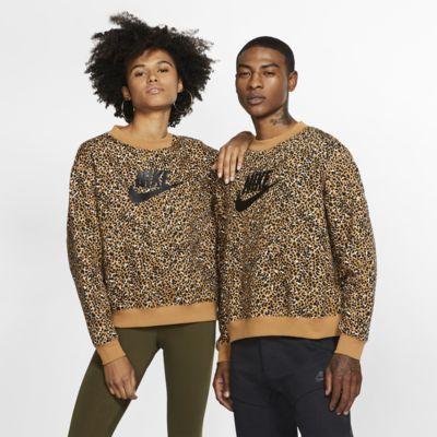 Nike Sportswear Animal Print kerek nyakkivágású pulóver