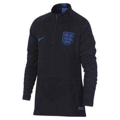 Fotbalové tričko s dlouhým rukávem Anglie VaporKnit Strike Drill pro větší děti