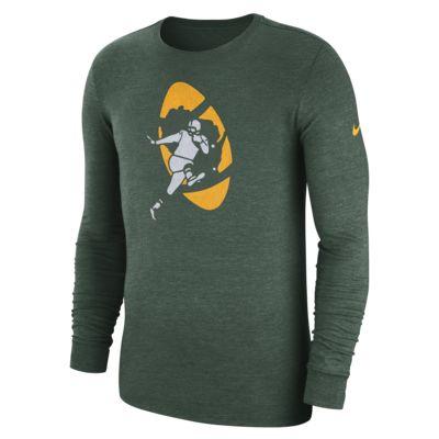 Långärmad t-shirt Tri-Blend Nike (NFL Packers) för män