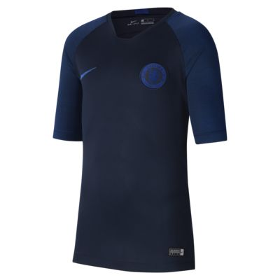 Chelsea FC Strike Older Kids' Short-Sleeve Football Top