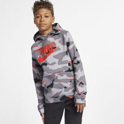 À Âgé Nike Pour Plus Sportswear Garçon Capuche Sweat Camouflage dqw8Pxd1
