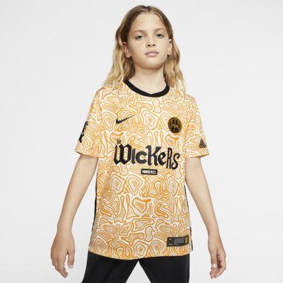Camiseta de fútbol para niños talla grande Hackney Wick FC Away
