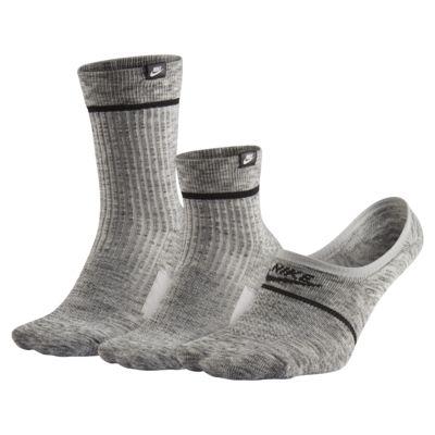 Купить Подарочный набор Nike Sneaker Socks (3 пары), Темно-серый/Черный/Белый, 22580476, 12477198