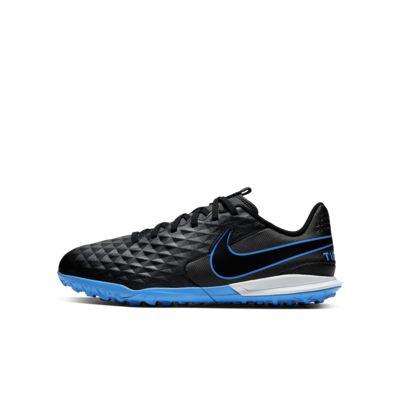 รองเท้าฟุตบอลเด็กเล็ก/โตสำหรับพื้นสนามหญ้าเทียม Nike Jr. Tiempo Legend 8 Academy TF