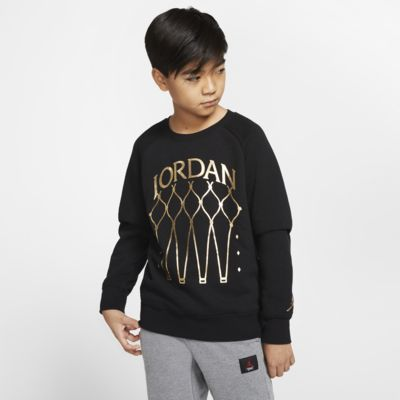 Bluza dzianinowa dla dużych dzieci (chłopców) Jordan Jumpman