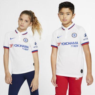 Купить Футбольное джерси для школьников Chelsea FC 2019/20 Stadium Away, Белый/Синий натиск, 22756102, 12533794
