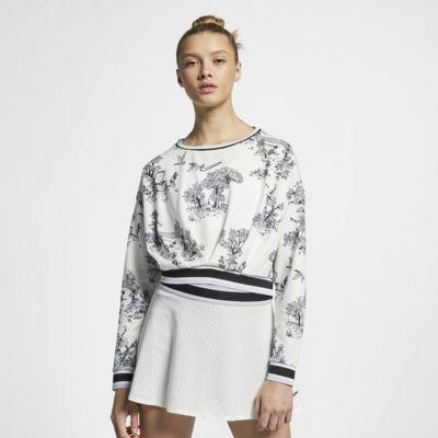 เสื้อเทนนิสแขนยาวผู้หญิง NikeCourt Dri-FIT